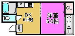 ディー・シモンズ堺東[1階]の間取り