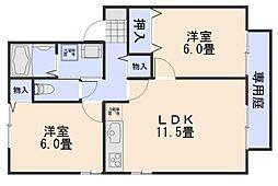 エンブレム伴 A棟[2階]の間取り