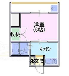 第一ロイヤルハイツ[3階]の間取り