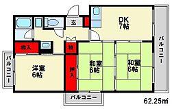 レジデンス宮原2[2階]の間取り