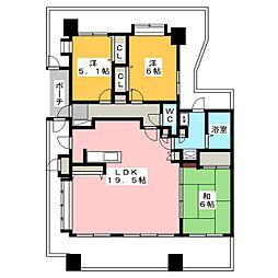 シティライフ箱崎18[6階]の間取り
