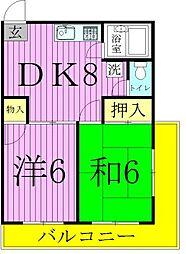 エムズマンション[2階]の間取り