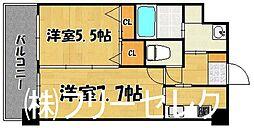 S-FORT福岡東[7階]の間取り