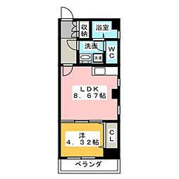エイトエムジー名駅[6階]の間取り