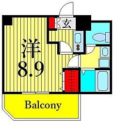 つくばエクスプレス 浅草駅 徒歩10分の賃貸マンション 7階1Kの間取り