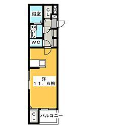 リアン M[2階]の間取り