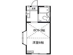 東京都羽村市栄町1丁目の賃貸アパートの間取り