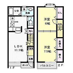 アーバンステージ I[2階]の間取り