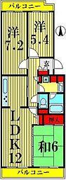 テラス竹ノ塚 East[608号室]の間取り
