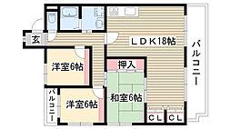 ホーム岩崎台[102号室]の間取り