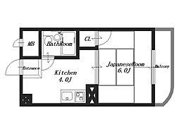 ヤブナカマンション[3階]の間取り