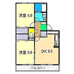 パストラル B棟[1階]の間取り