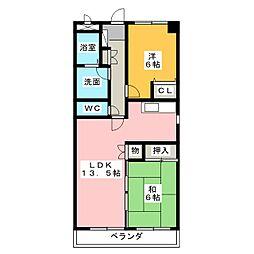 スカイアークビル[3階]の間取り
