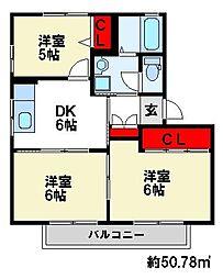 コンフォール・T[2階]の間取り