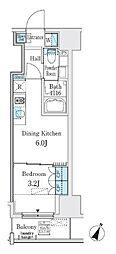 東京メトロ半蔵門線 神保町駅 徒歩3分の賃貸マンション 9階1DKの間取り