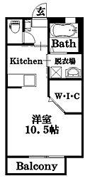 グリーンメゾン八本松A[1階]の間取り
