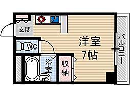 エスポワール茨木[4階]の間取り