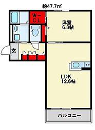 センテナリオ葛原C棟[2階]の間取り