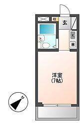 愛知県名古屋市千種区菊坂町2丁目の賃貸マンションの間取り