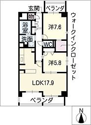 Duke Takayama[2階]の間取り