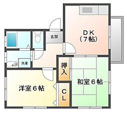 ドルフ甲子園[2階]の間取り