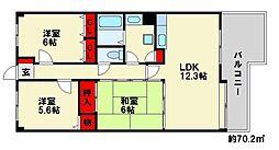 サイドパーク23[1階]の間取り