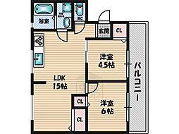 泉ヶ丘旭マンション[2階]の間取り