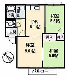 フレグランス中村 A棟[1階]の間取り