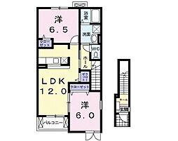 プラシードII[2階]の間取り