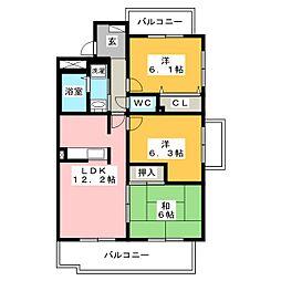 AZOOL B (アズール)[1階]の間取り