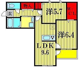 仮) 上本郷Nハイツ[3階]の間取り