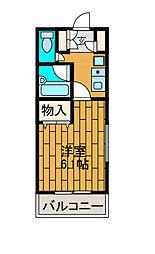 EM'sマンション[2階]の間取り