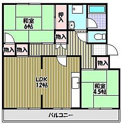 レインボーマンション[3階]の間取り