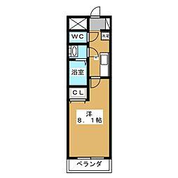 クローバーコート[2階]の間取り