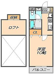 兵庫県神戸市西区前開南町1丁目の賃貸アパートの間取り
