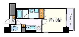 グランツェ名駅太閤通 6階1Kの間取り