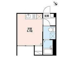神奈川県大和市林間2丁目の賃貸アパートの間取り