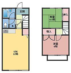 [テラスハウス] 神奈川県横浜市鶴見区鶴見中央2丁目 の賃貸【/】の間取り