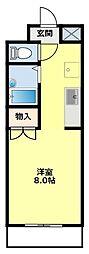 名鉄三河線 豊田市駅 4kmの賃貸マンション 1階1Kの間取り