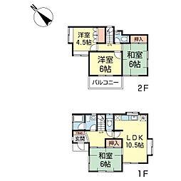 [一戸建] 神奈川県横浜市港北区大倉山4丁目 の賃貸【/】の間取り