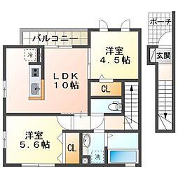 Sumika[2階]の間取り