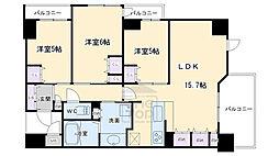 ジ・アーバネックス京都河原町プレイズ 9階3LDKの間取り