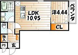 グランドプレミアム三萩野[3階]の間取り