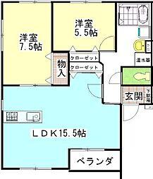 MSタウンII[2階]の間取り