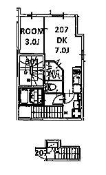 ミハス東新宿[2階]の間取り