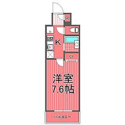 フェニックス横濱関内ベイガイア[8階]の間取り