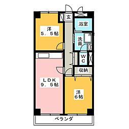 山手アベニュー[4階]の間取り