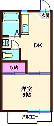 カーサ・イトー(六角橋)[203号室]の間取り