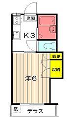 東京都小金井市梶野町2丁目の賃貸アパートの間取り