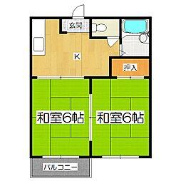 サニーヒル日ノ岡[2階]の間取り